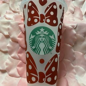 Starbucks Reusable Cold Cup Red Bows